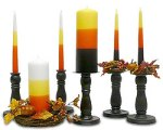 candy corn colored candles