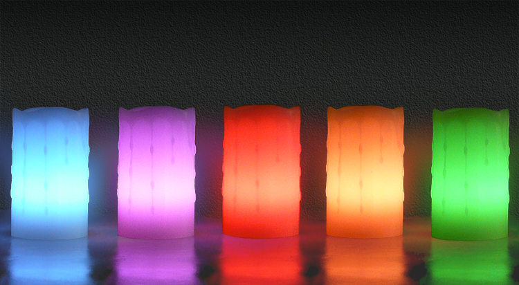 Rainbow Colored Remote Control Candles - U.S. Candle ...