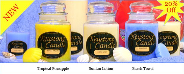 new candle scents